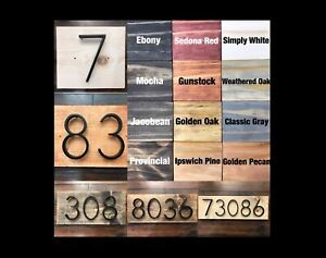 House Numbers | Address Plaques | House Number Signs | Farmhouse | Rustic Decor
