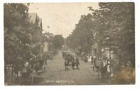RPPC Parade in HUGHESVILLE PA Lycoming County Pennsylvania Real Photo Postcard