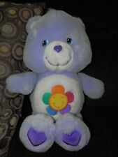 "lavender HARMONY BEAR CARE BEAR, talking 13"" purple"