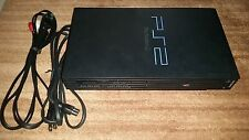 SONY PLAYSTATION 2 PS2 FAT BLACK SCPH-39010 CONSOLE SYSTEM W CABLES NRMT COND