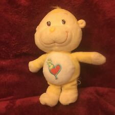"""Care Bears Cousins yellow Playful Heart Monkey 9"""" plush 2004 Preowned"""