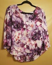 Jenifer Lopez Size XS Floral Sheer Top **BEAUTIFUL**