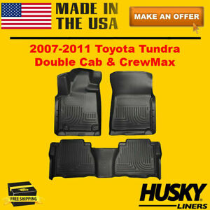 Husky Liners Floor Mats Weatherbeater For 2007-2011 Toyota Tundra Double Cab