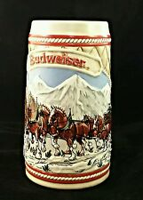 Anheuser Bush Stein Christmas Clydesdales Beer 1985 limited edition 153 USA Sell