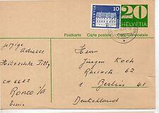 Suiiza Entero postal circulado año 1971 (DE-753)