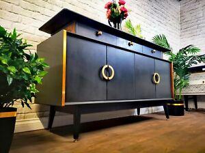 Luxury King Size Vintage 1960's Retro Credenza Art Deco Sideboard TV Media Unit