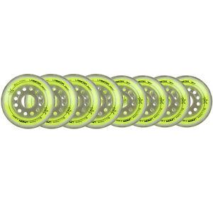 LABEDA Wheels 80mm /76mm HILO Set UNION YELLOW Inline Indoor Roller Hockey