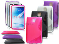 NEW STYLISH S LINE GEL SOFT BACK CASE COVER FOR SAMSUNG GALAXY NOTE 3 N9000