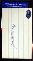 Joe Mccarthy Signed Psa/dna 3x5 Index Card Certified Autograph Authentic
