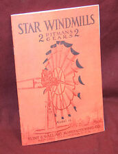 Model 12 Star Windmill Catalog 95 Flint Walling Kendallville In Farm Book Engine