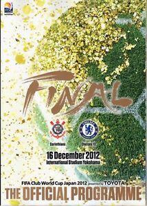 FIFA CLUB WORLD CUP FINAL JAPAN 2012 Corinthians v Chelsea - Official programme