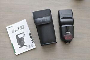 Canon Speedlite 430EX II E-TTL Shoe Mount Flash - Very Low Use