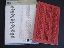 "NEW Stampin' Up RETIRED ""Background Builders"" Cling Foam Stamp Set"