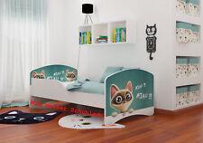 Kinderbett 160x80 Matratze+Schublade+Lattenrost Katze NEU B-Ware