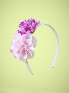 baby Gap NWT Flower Rosette Headband Purple Lilac pink Full Bloom