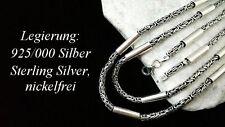 925 echt silber Sterlingsilber Königskette rund Massive Hals kette 66 Zylinder