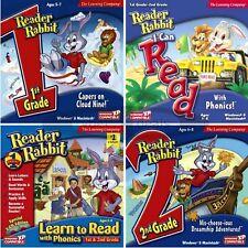 Reader Rabbit 1st 2nd Grade Edutainment PC Windows XP Vista 7 8 10 Sealed New