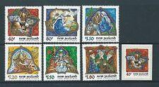 Nouvelle-Zélande 1999 Nouvelle-Zélande Noël Jeu de 7 Non montés excellent état