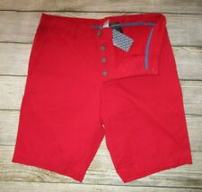 MENS DIVIDED BY H&M BUTTON FLY RED SHORTS SIZE 30