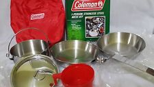 Rare - Coleman Stainless Steel 1 Person Mess Kit 805-761T