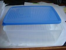 "NEW Tupperware 3991A-4  Fridge Smart Blue Sheer ~ 8"" x 6"" x 3 1/2"" (B698)"