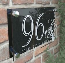 House Door Number Plaque Wall Gate Sign Name Plate Clear Acrylic Dec4-24WB