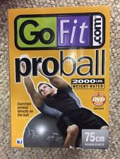 GoFit 75cm Professional Stability Ball and Core Performance Training DVD Grey