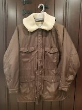 Authentic STUSSY Insulated Faux Fur Hooded Jacket Mens Medium Winter Brown Nylon