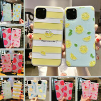For iPhone 12 Pro Max 11 XS XR X 8 7 Cute Fruits Pattern Relief Soft Case Cover