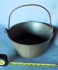 Antique Brass Bucket Cauldron Ca. 1875 Copper Bail handle apple gathering water