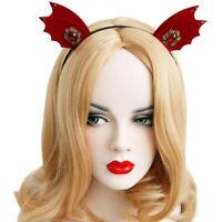 Headband for Women Halloween Goth Felt Animal Ears Devil Wings Bat Hairband H.ZY