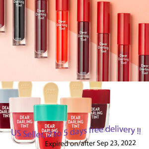 ETUDE HOUSE New Dear Darling  Water Gel Tint 4.5g, 8 color options + Sample !!
