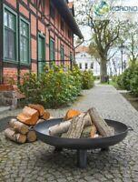 Korono Stahl Feuerschale mit 3 Beinen Ø 60, 70, und 80cm mit Zubehör, Hand Made