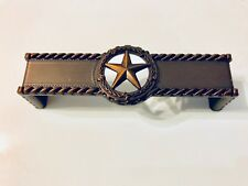 STAR WITH BARBWIRE PULL ORB WESTERN CABINET HARDWARE DRAWER PULLS
