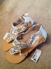 NEW Next Gladiator Diamanté Sandals Size 3.5