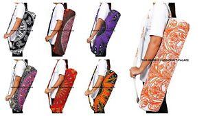 "Indian Cotton Mandala Yoga Bag Zipper & Adjustable Strap Gym Pilates Bag 25"""