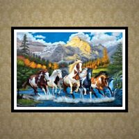 DIY 5D Full Diamond Painting Horse Embroidery Cross Craft Stitch Kit Home Decor