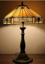 Tiffany Style Table Lamp Glass Stained Lamps Light Desk Handcrafted Medium Shade