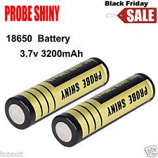 2pcs 18650 3200mAh 3.7v Li-ion BRC Battery for LED Flashlight Torch Rechargeable