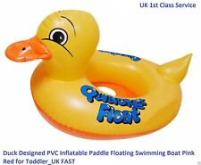 Duck Designed PVC Inflatable Paddle Floating Pool Swimming Boat for Baby Toddler