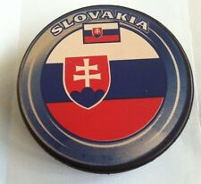 Slovakia Flag Hockey Puck official size & weight Un-signed