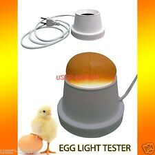 EGG LIGHT TESTER HATCHING OVOSCOPE CANDLING LAMP FOR INCUBATOR + ENGLISH MANUAL