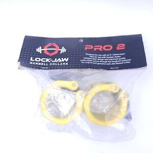 """AVUS Lock-Jaw Pro 2 Barrel Collars PR2-BLK Black Lockjaw 2"""" Bars"""