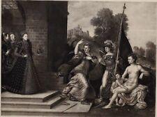 1896 Antiguo Estampado ( Queen Elizabeth I) Juno Venus &