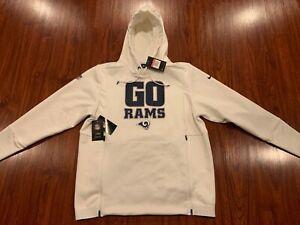 Nike Men's LA Los Angeles Rams Sideline Local Lockup Hoodie Sweatshirt Large L