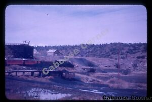 D&RGW at mining complex  DREWRY PHOTOCOLOR SLIDE