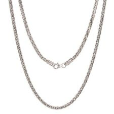 14k White Gold Wheat Chain Necklace 18