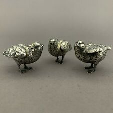 Vintage Set Buccellati Sterling Silver Miniature Figural Birds Signed 925 Italy