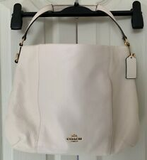 Coach Isabelle Pebble Dash Leather Large Bag Cream - BRAND NEW £425