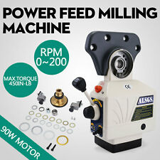 AL-310S X-AXIS Power Feed Milling Machine 0-200RPM 0.4-37.4 IPM X traverse
